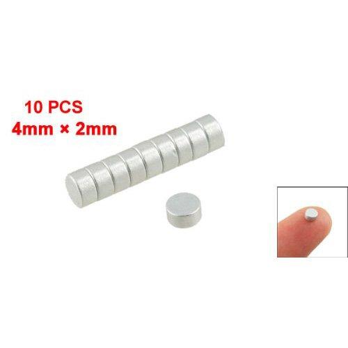 Sonline-Silber-Ton 4 mm x 2 mm Seltene Erden Neodym-Magnet Starke 10 Stueck - Grüne Erde Textilien