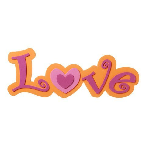 Darice Foamies Foam (Bulk Buy: Darice Foamies Foam Word Love Pink and Orange 4.5 x 12 inches (6-Pack) 106-2845 by Darice Bulk Buy)