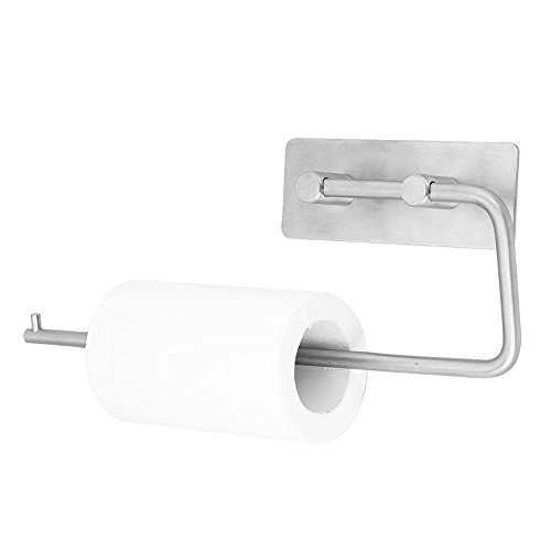 Toilettenpapierhalter, Edelstahl Tissue Storage Rack Halter Wandhalterung ohne Bohren Küche Bad Kühlschrank Storage Rack Einfach Toilettenpapier Halter Handtuchhalter