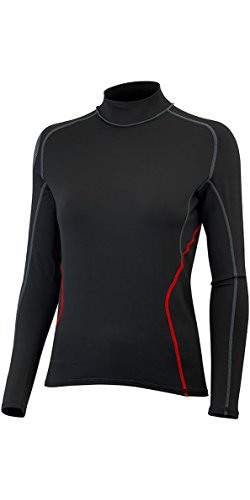 Gill Womens Hydrophobe Longsleeve Schwarz - Easy Stretch Thermofutter - Thermische Wärmelage Schichten -