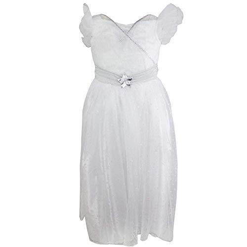 Mädchen Weihnachtsengel Krippenspiel Kostüm Halo Stirnband & Wings Größen von 1 bis 8 Jahre - Weiß, 1-2 Years (Halo-kostüme Mädchen Für)
