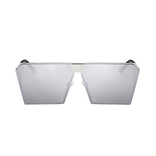 H.ZHOU Sonnenbrillen Quadratische Gläser Frauen Runde Gesicht Sonnenbrille UV-Schutz Sonnenbrillen (Farbe : 2)