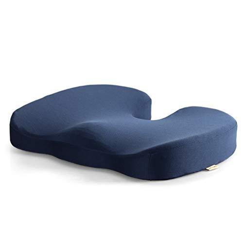 Memory Foam Sitzkissen, Orthopädisches Steißbein-Sitzkissen zur Linderung von Hämorrhoiden und Steißbein-Schmerz,Blue