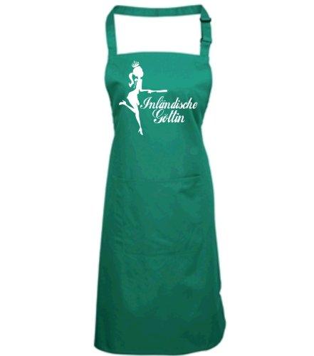 Göttin Grünen T-shirt (Kochschürze grün 'INLÄNDISCHE GÖTTIN')
