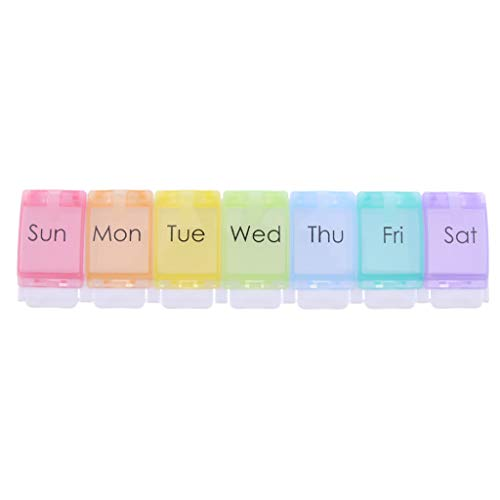 IPOTCH Medikamentendosierer Pillenbox Tablettenbox Medikamentenbox für 7 Tage