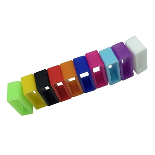 VORCOOL 20 Stück Silikon-Verschlüsse Ring Halter für