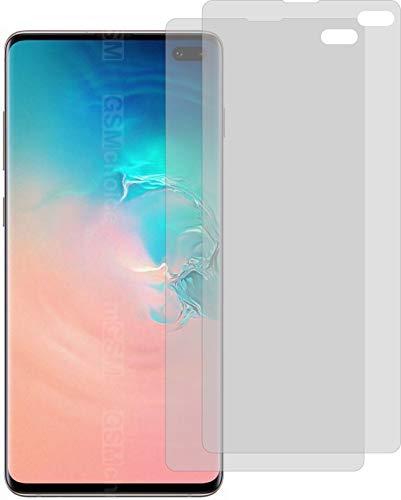 2X ANTIREFLEX matt Schutzfolie für Samsung Galaxy S10+ Plus Displayschutzfolie Bildschirmschutzfolie Schutzhülle Displayschutz Displayfolie Folie