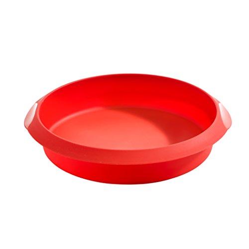 Lékué Classic - Molde Redondo para Tartas, 20 cm, Color Rojo