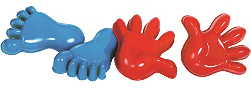 Gowi 558-56 Sandform Hände und Füße im Netz, 4tlg, Sandkästen und Sandspielzeug