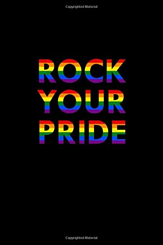Rock Your Pride: Colorful Notepad for LGBT Fans, Gay Pride Journal, Rainbow Notebook, Lesbian Wedding Planner, Composition Notebook, 6x9'', 100 pages