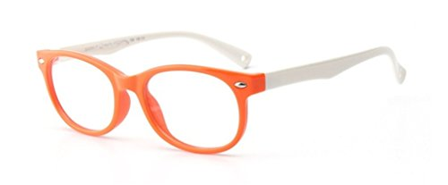 Kinder Brille Partybrille Ohne Stärke Gläser Klassisch Nerdbrille Design von Flexibel Gummirahmen...