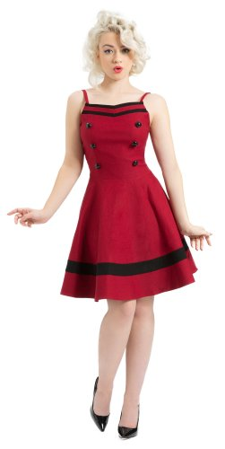 Voodoo Vixen dell'abito SAILOR DRESS DRA2322 Vino X-Large