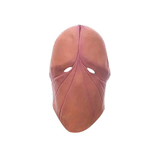 Lustige Masken, Gesichtsmaske mit Augenbinde, elastisch, atmungsaktiv, offene Augen, Cosplay-Kostüm, Unisex, Braun