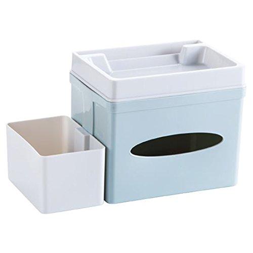 WEIAIXX Desktop Gewebe Box Fernbedienung Haussteuerung Diverses Lagerung Abendkasse Wohnzimmer Couchtisch Extraktion Tray Wischen Sie Tee Grün