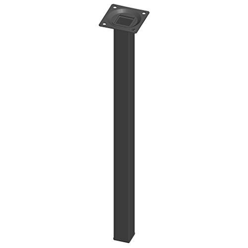 Element System 4 Stück Stahlrohrfüße eckig,  Tischbeine,  Möbelfüße inklusive Anschraubplatte,  40 cm,  10 Abmessungen,  schwarz,  4 farben, 18133-00302