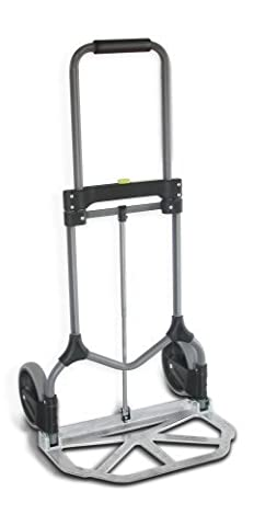Welcom MC2S Magna Cart Elite 200 lb Capacity Folding Hand Truck, Silver, Frustration-Free Packaging by