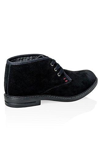 Hachiro Herren Wildleder Boots Stiefeletten Stiefel Winterstiefel Black