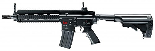 HECKLER & KOCH HK 416CQB - RIFLE DE AIRSOFT (6 MM BB  ELECTRICO  INCLUYE PEGATINA G8DS)  COLOR NEGRO