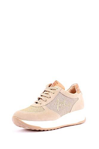 91b4abaee1 PRIMA CLASSE Donna Sneaker Modello Hogan Lurex Beige Mod. 0295 37