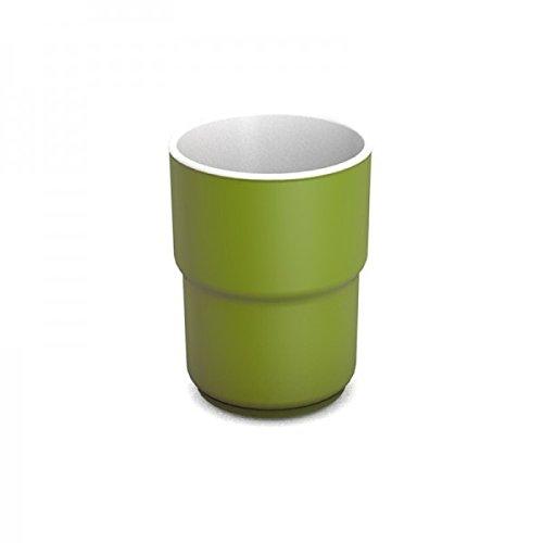 Ornamin Becher 230 ml grün, Melamin | hochwertiger, stabiler, bunter Kunststoffbecher | robustes Alltags-Geschirr für Kinder, Camping, Picknick, Gemeinschaftsverpflegung, Großküchen, Institutionen | Saftbecher, Mehrwegbecher, Teetasse
