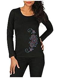 Aller Simplement - Tee-shirt en coton à manches longues col rond Aller Simplement TS904