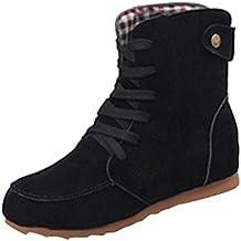 Yesmile Zapatos para Mujer❤️Zapatos Botas Planas de Nieve de Tobillo de Mujer Botas de