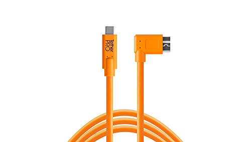 Tether Tools USB-C a 3.0 Micro- B Right Angle 4,60m orange