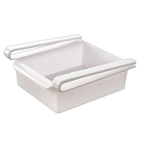 Fliyeong Multifunktions Kühlschrank Regal Lagerregal Gefrierschrank Regal Schublade Kühlschrank Werkzeuge für Kühlschrank Regal Verwenden 1 Stücke Weiß Stilvolle
