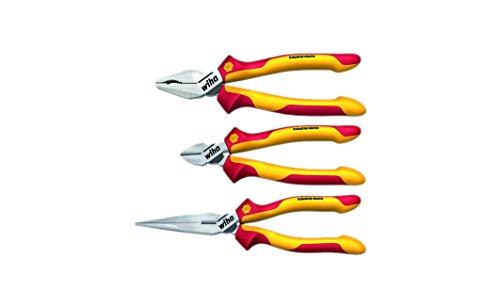 Preisvergleich Produktbild Wiha Z 99 0 001 09 Zangensatz Industrial electric, 3-teilig VDE Kombinationszange, Seitenschneider und Flachrundzange, 38637
