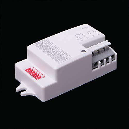 WDTong Wechselstrom 220V-240V / 50Hz Mikrowellen-Radarsensor-Körper-Bewegungsdetektor für LED-Licht