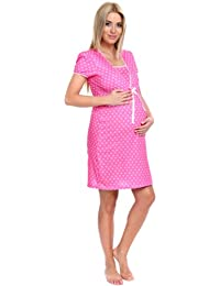 Italian Fashion byGuazzone Women's Maternity Night Shirt