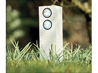 Lunartec Solar-tower Gartenlicht Duo Mit 2 Led-spots von Lunartec