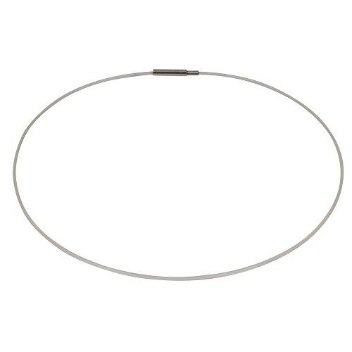 Durchsichtiger Nylon Halsreif, Schraubverschluss, ca. 45 cm (Kette Nylon)