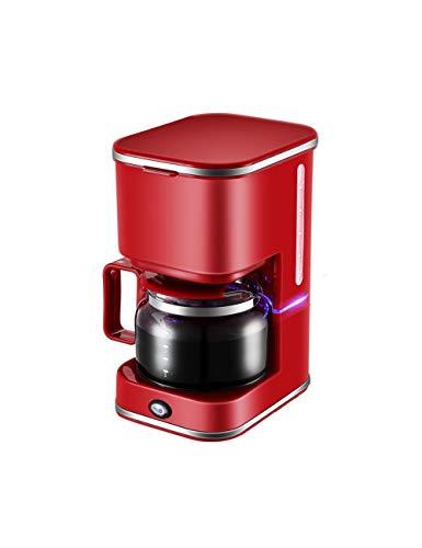 DTBA Tragbare Kaffeemaschine AutomatischeFilterkaffeemaschine 5 Tassen Kaffeemaschinen 220V Für Kaffee Und Tee Für Den Heimgebrauch rot