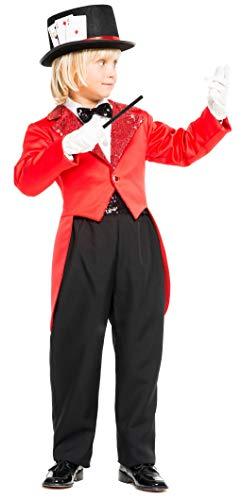 chiber Kinder Kostüm, Zauberer Prestidigitator Talla 10 (9-10 - Houdini Kostüm