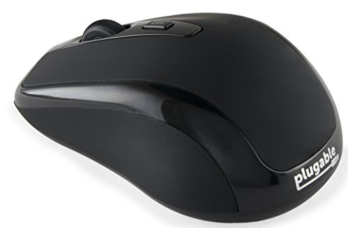Plugable Technologien bt-mouse3Bluetooth optische 1.600dpi und Rechtshänder, schwarz–Maus (Bluetooth, Reise, Tasten pressoirs, Rad, optisch, 1600dpi)