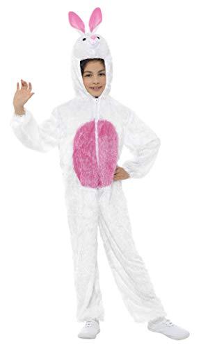 Smiffys Kinder Unisex Häschen Kostüm, Jumpsuit mit Kapuze, Größe: S, - Häschen Kinder Kostüm