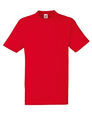 Fruit of the Loom Mens Plain Heavy Cotton T-Shirt : everything 5 pounds (or less!)