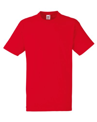 Fruit of the Loom -  T-shirt - Uomo Red