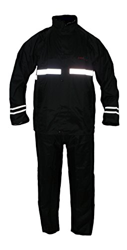 Protectwear Gabardina de motocicleta, traje de lluvia,impermeable, 2 piezas, negro RK Tamaño...
