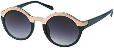 Gafas de sol Chic-Net alrededor de la parte superior de metal borde Glamour Vintage Retro 400UV John Lennon plata dorada
