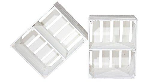 4er Set Weiße Kiste für Schuh-und Bücherregal