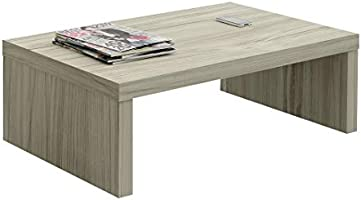 Artely MDF/MDP Troia Coffee Table, Sofa Table, Decorative Table, Ideal for Living Room, TV Room and Office, Capuccino...