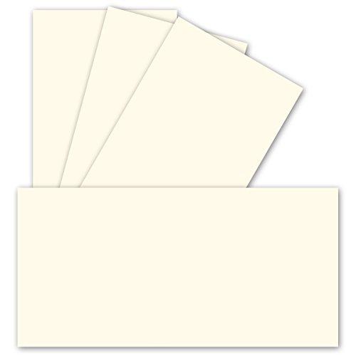 Einzelkarten DIN Lang | Naturweiß | 100 Stück | Premium QUALITÄT - 10,3 x 20,8 cm - sehr formstabil - für Drucker geeignet! Ideal für Grußkarten und Einladungen - Qualitätsmarke: NEUSER FarbenFroh -