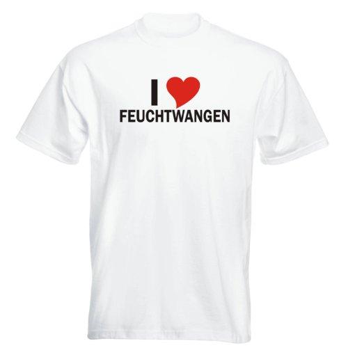 T-Shirt mit Städtenamen - i Love Feuchtwangen - Herren - unisex Weiß