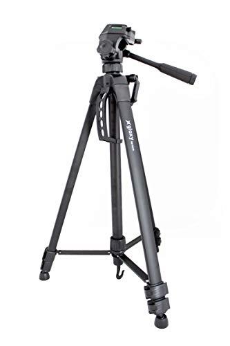 Gloxy GX-TS370 Trépied Complet + Tête 3D, 1675 mm, Sac, Sabot Rapide, Compatible avec toutes les marques