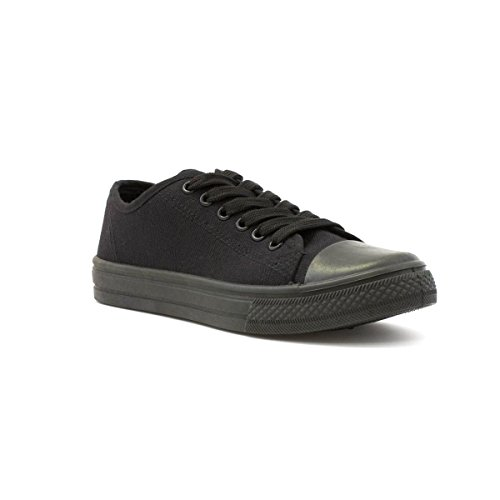 Zone - Womens Black Fashion Lace Up Canvas Shoe - Size 5...