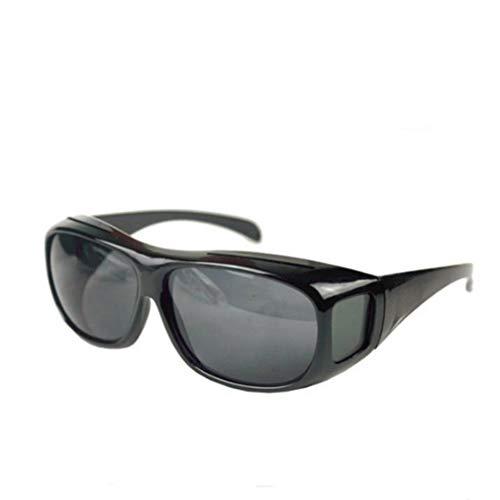1997LM High-End Polarisationsbrille Brille Myopia Night Driving Sonnenbrille Set Brille Bright Black + Grey