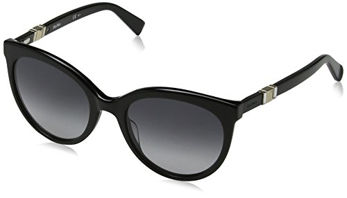 Max mara donna mm jewel ii 9o 807 54 occhiali da sole, nero (black/dark grey sf)