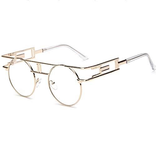 SHEEN KELLY Retro Steampunk sonnenbrille John Lennon männer frauen Metall rahmen runde brille marke designer spiegel linse Transparent